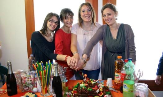 Le educatrici, da sinistra: Chiara, Silvia, Francesca e Anna